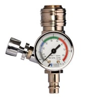 ANEST IWATA Air pressure gauge regulator with quick coupling AFV-2 (AFV-2)