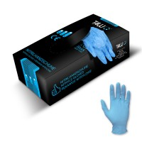 T4W Disposable nitrile gloves / blue (59520)
