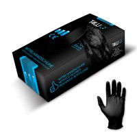 T4W Disposable nitrile gloves / black (59522)